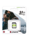 Kingston Technology Canvas Select Plus  V30 64GB SD Class 10 UHS-I U3 Flash Card