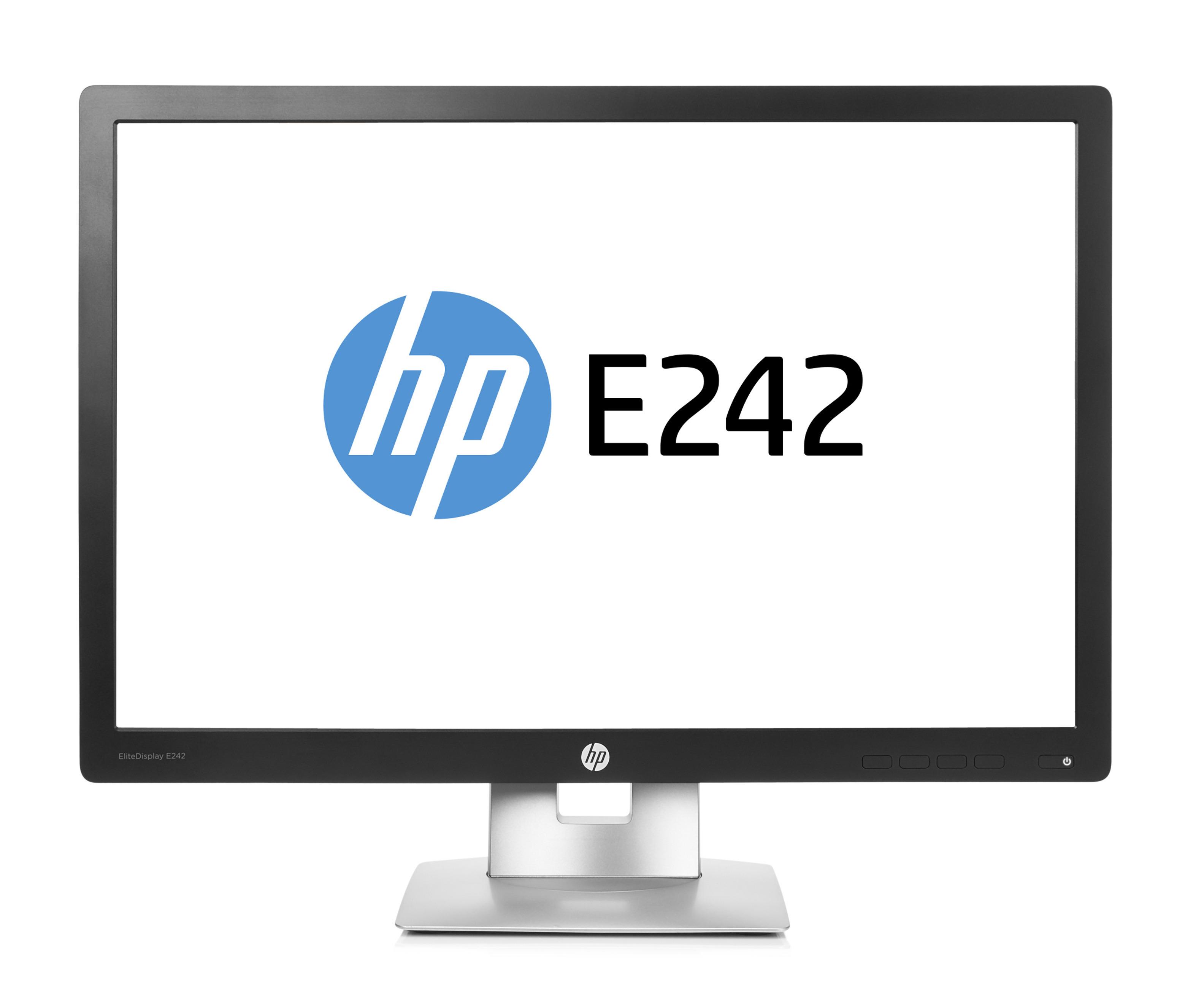 "HP EliteDisplay E242 IPS 24"" Black, Silver Full HD Matt"