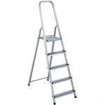 FSMISC 5 STEP ALUMINIUM STEPLADDER 405007