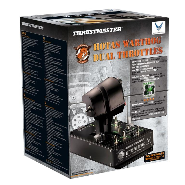 Thrustmaster HOTAS Warthog Dual Throttles Flight Sim PC Black