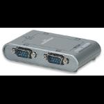 Manhattan USB / 4x Serial 4 x RS-232 9-pin Silver