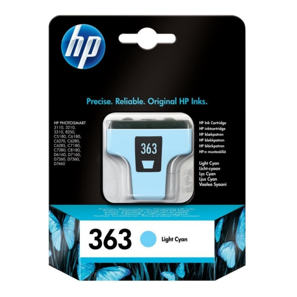 HP C8774EE (363) Ink cartridge bright cyan, 220 pages, 220 Fotos 10x15, 5ml