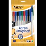 BIC 830865 ballpoint pen Black, Blue, Green, Red Stick ballpoint pen 10 pc(s)
