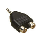 Microconnect AUDALH 3.5mm 2xRCA Black cable interface/gender adapter