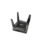 ASUS RT-AX92U wireless router Gigabit Ethernet Tri-band (2.4 GHz / 5 GHz / 5 GHz) Black, Gold