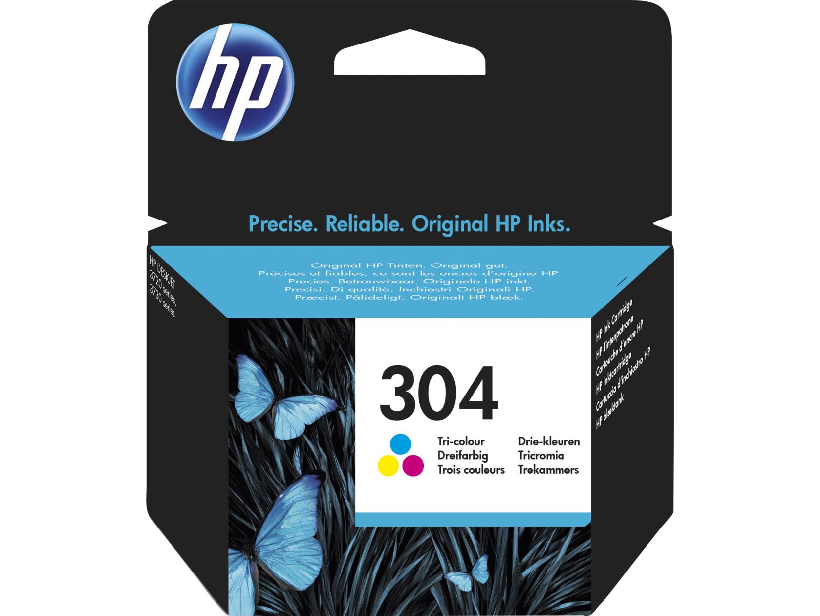 HP 304 Tri-Colour Original Standard Capacity Cian, Magenta, Amarillo