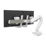Ergotron HX Series Dual Monitor Arm, Low-Profile Top Mount C-Clamp