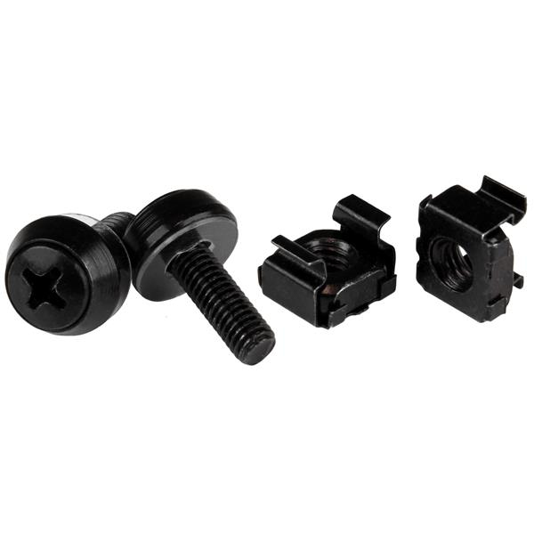 StarTech.com M5 x 12mm - Screws and Cage Nuts - 100 Pack, Black