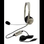 Ergoguys Califone 3064AV-USB Beige,Black Supraaural Head-band headphone