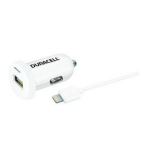 Duracell DR6001W Auto White mobile device charger