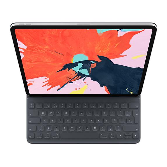 Apple MU8H2Y/A mobile device keyboard Black QWERTY Spanish