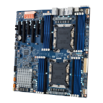 Gigabyte MD71-HB0 server-/werkstationmoederbord LGA 3647 (Socket P) Verlengd ATX Intel C622