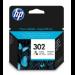HP Cartucho de tinta original 302 tricolor