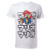 NINTENDO Super Mario Bros. Adult Male Japanese Mario T-Shirt, Medium, White (TS400101NTN-M)