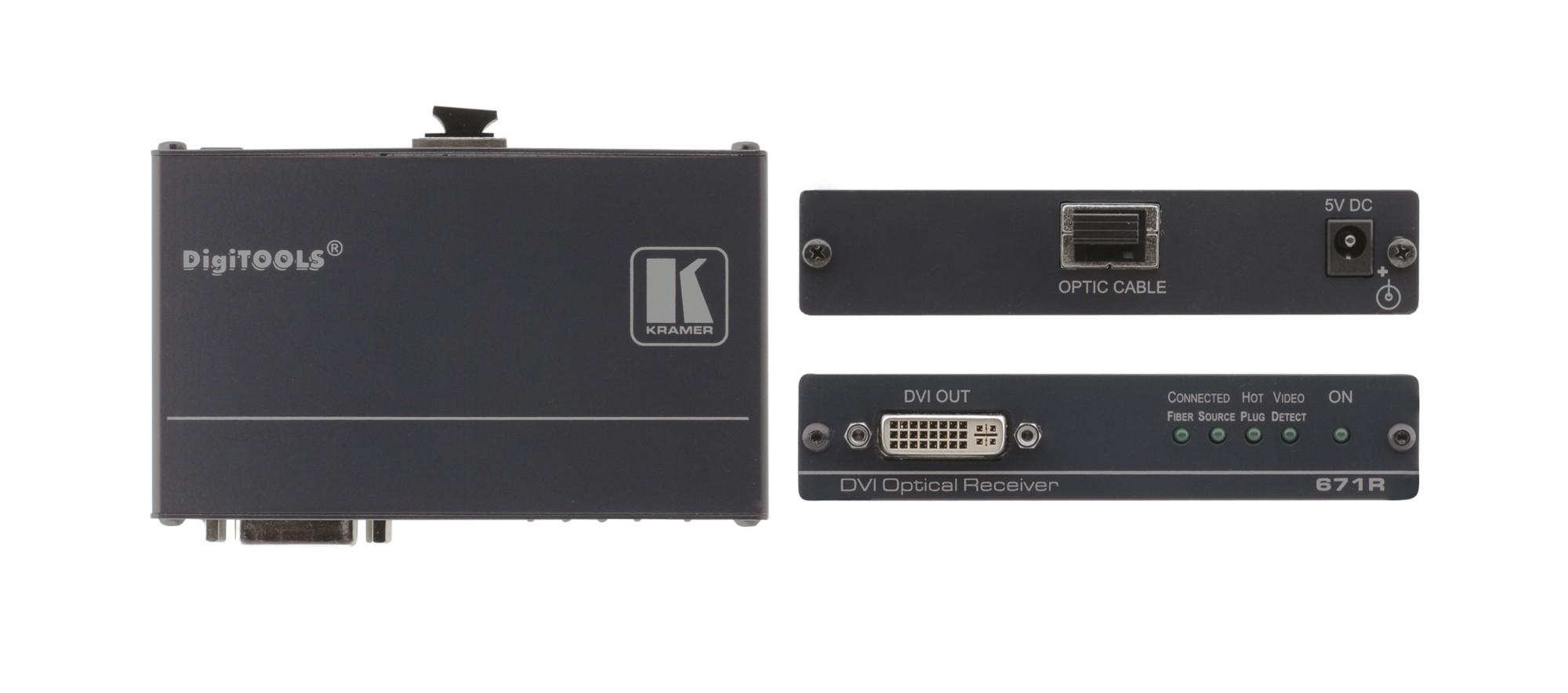 Kramer Electronics 671R AV receiver Black AV extender