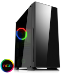 GAMEMAX Hush Silent Gaming Case With Glass Side Window 1 x RGB Rear Fan
