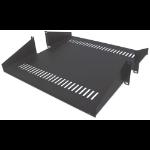"Intellinet 19"" Double-Sided Cantilever Shelf, 2U, Double-Sided Shelf for 19"" Rack, Black"