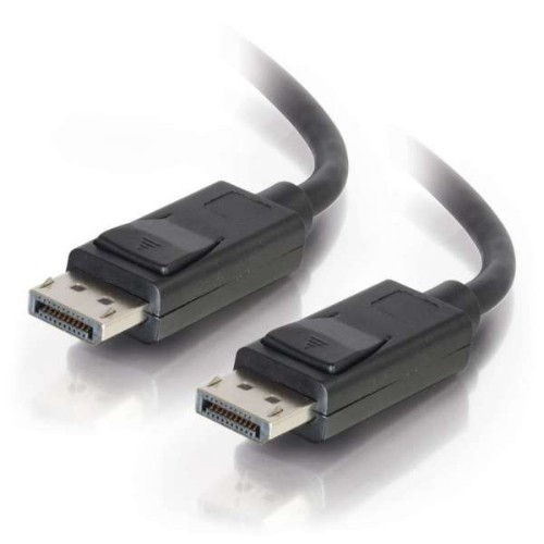 C2G 2m DisplayPort Cable with Latches 8K UHD M/M - 4K - Black