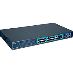 Trendnet TPE-224WS, 28-Port Gigabit Web Smart PoE Switch No administrado Energía sobre Ethernet (PoE)