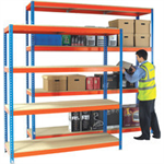 Heavy Duty 2100x900mm Orange/Zinc Painted Additional Shelf