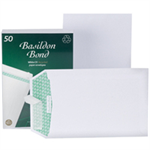 Basildon Envelopes Recycled Pocket Peel and Seal 120gsm C5 White Ref B80277 [Pack 50]
