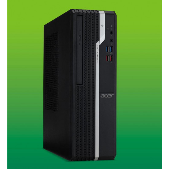 Acer Veriton X2660G SFF Core i3-8100 CPU , 4GB DDR4  RAM, 1TB HDD, DVDSM, Internal Speaker, Windows10 pro