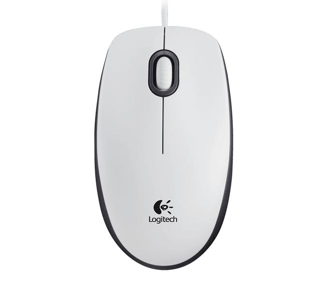 Logitech M100 USB Optical 1000DPI Ambidextrous White mice