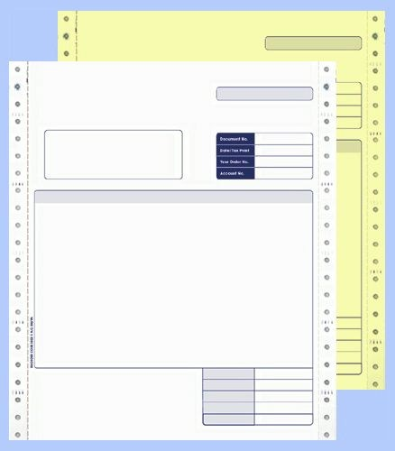 Custom Forms Sage Comp 2 Part Cont Invoice BX1000
