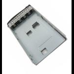 "Supermicro MCP-220-93801-0B storage drive enclosure 2.5"" Black, Brushed steel"