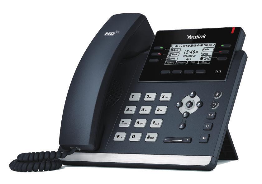 Yealink SIP-T41S Wired handset 6lines LCD Black IP phone