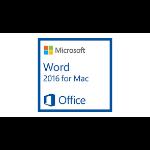 Microsoft Word for Mac 2016, 1u