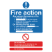 Signs and Labels Safety Sign Fire Action Standard A5 PVC FR03551R