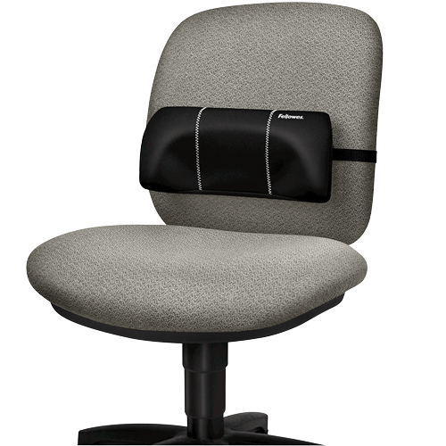 Fellowes 8042101 Black Fabric, Foam Padded backrest