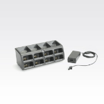 Zebra 8-Slot Battery Charger Kit Black