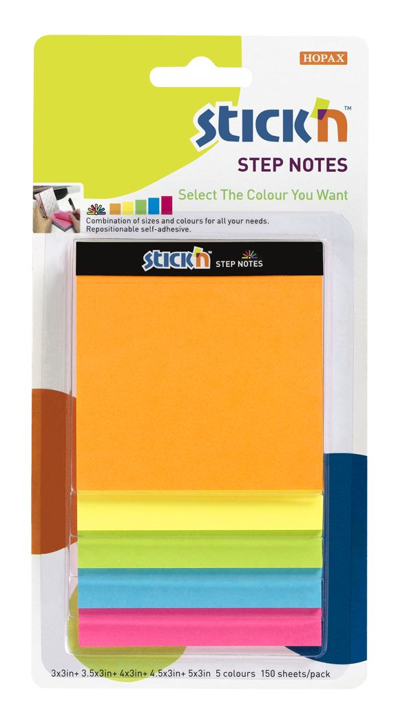STICK N Value Stickn Magic Cube Step Notes Neon Assorted 21423