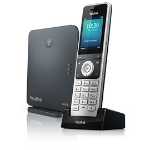 Yealink W60P IP phone Black, Silver Wireless handset TFT