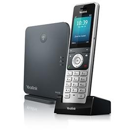 Yealink W60P IP phone Black,Silver Wireless handset TFT