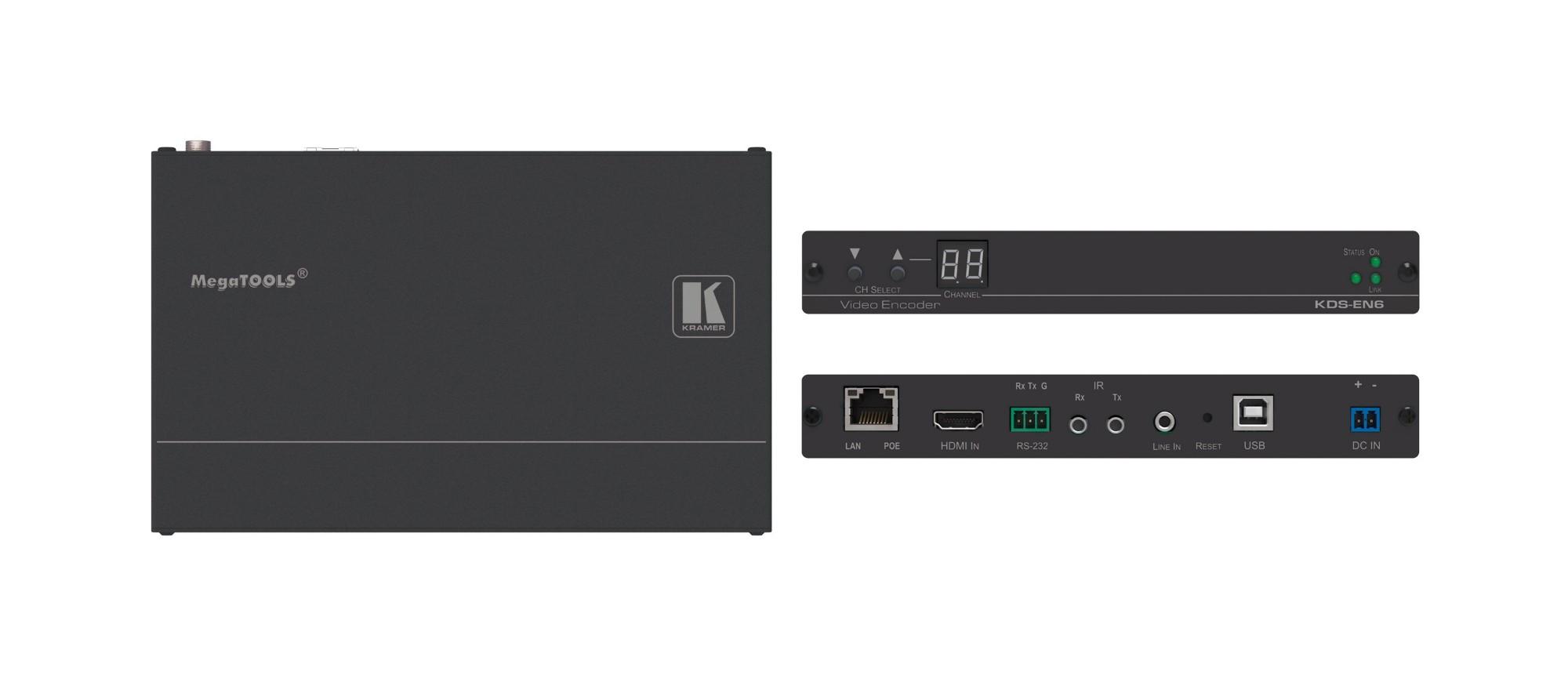 Kramer Electronics KDS-EN6 extensor audio/video Receptor AV Negro