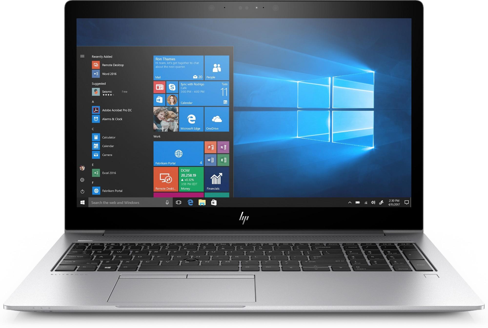 "HP EliteBook 840 G5 Silver Notebook 39.6 cm (15.6"") 1920 x 1080 pixels 8th gen Intel® Core™ i7 8 GB DDR4-SDRAM 256 GB SSD Windows 10 Pro"