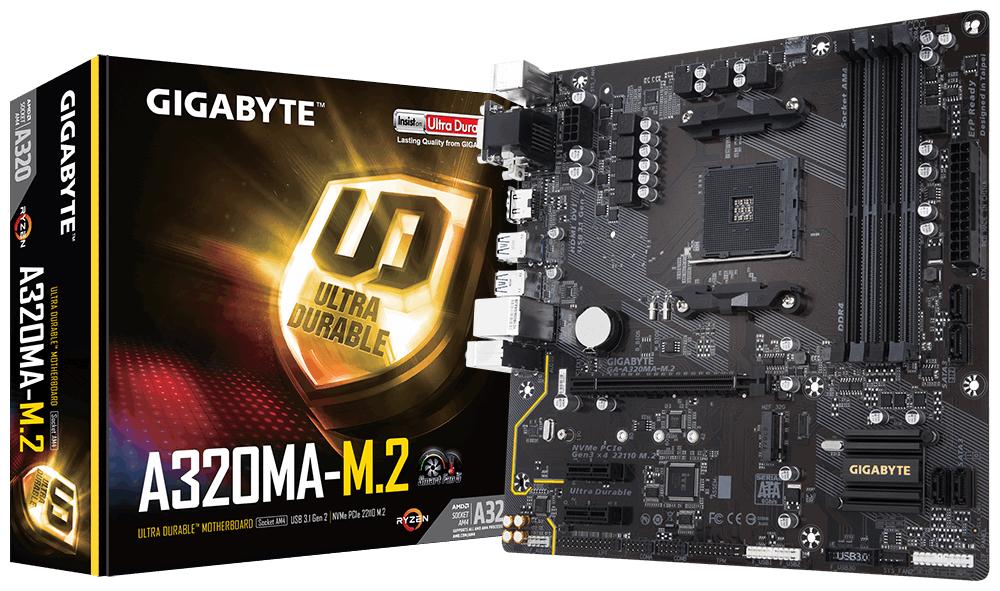 Gigabyte GA-A320MA-M.2 AMD A320 Socket AM4 Micro ATX motherboard