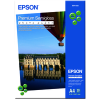 Epson Premium Semigloss Photo Paper, DIN A4, 251g/m², 20 Sheets