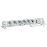 C2G 80828 Indoor 6AC outlet(s) 1.5m Grey,White power extension