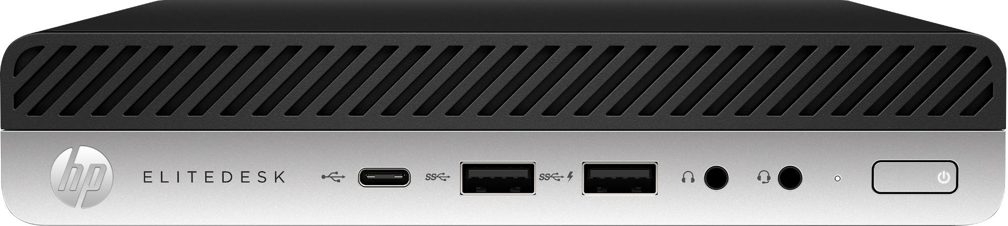HP EliteDesk 705 G4 7th Generation AMD A10-Series APUs A10-9700E 8 GB  DDR4-SDRAM 500 GB HDD Black Mini PC