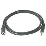 C2G 2m 3.5mm Stereo Audio Extension Cable M/F audio cable Black