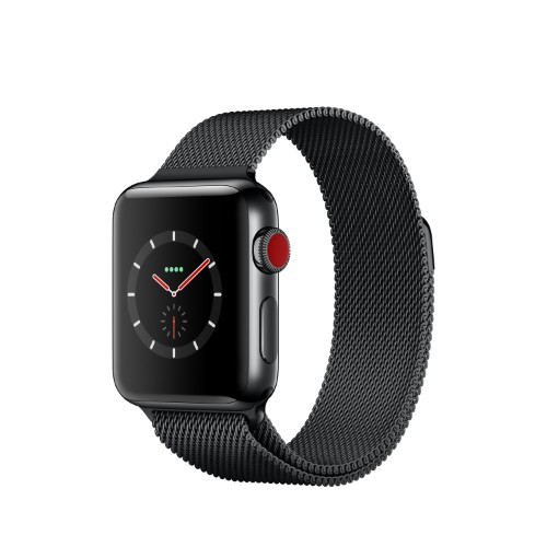 Apple Watch Series 3 smartwatch Black OLED Cellular GPS (satellite)