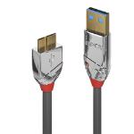 Lindy 36659 USB cable 3 m USB 3.2 Gen 1 (3.1 Gen 1) USB A Micro-USB B Grey