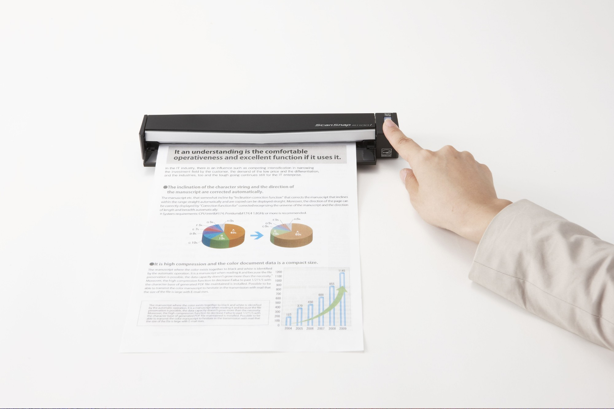 Fujitsu ScanSnap S1100i 600 x 600 DPI CDF + Sheet-fed scanner Black A4