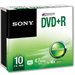 Sony 10 Pack DVD+R Recordable Slim Case
