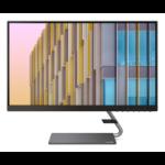 """Lenovo Q24h 60.5 cm (23.8"""") 2560 x 1440 pixels Quad HD LED Grey"""