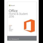 Microsoft Office Home & Student 2016, Win, 1U